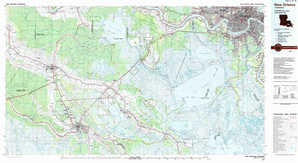 New Orleans topographical map