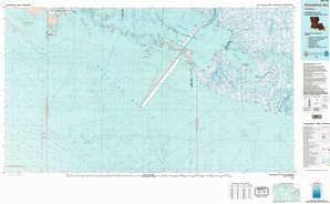 Atchafalaya Bay topographical map