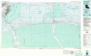 Port Arthur topographical map