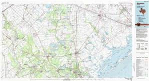Angleton topographical map