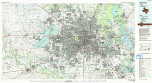 Houston topographical map