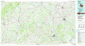 Cuero topographical map