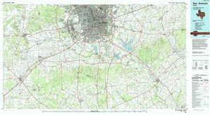 San Antonio topographical map