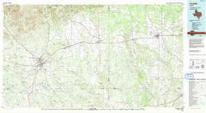 Uvalde topographical map