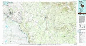Del Rio topographical map