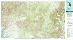 Camp Wood topographical map