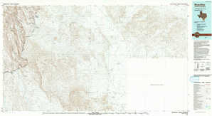 Boquillas topographical map