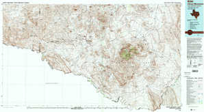 Chisos Mountains topographical map