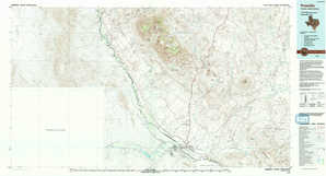 Presidio topographical map