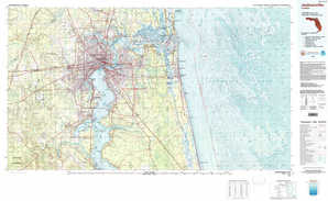 Jacksonville topographical map