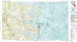 Fernandina topographical map