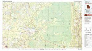 Okefenokee Swamp topographical map