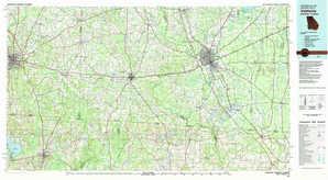 Valdosta topographical map