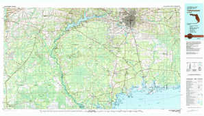Tallahassee topographical map