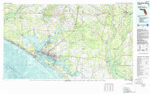 Panama City topographical map