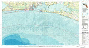 Fort Walton Beach 1:250,000 scale USGS topographic map 30086a1