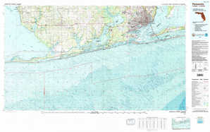 Pensacola 1:250,000 scale USGS topographic map 30087a1