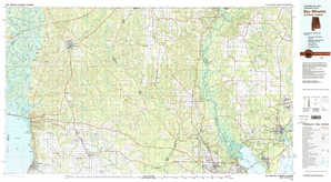 Bay Minette topographical map