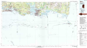 Biloxi topographical map