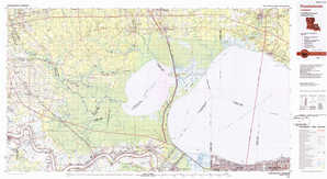 Ponchatoula topographical map