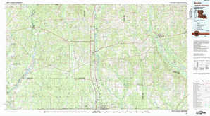 Amite topographical map