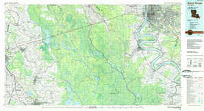 Baton Rouge topographical map