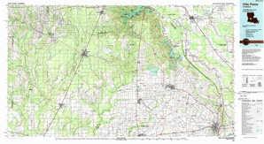 Ville Platte topographical map