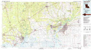Lake Charles topographical map