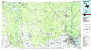 Beaumont topographical map