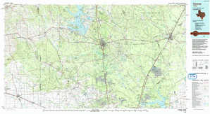Conroe topographical map