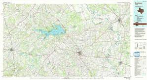 Brenham topographical map