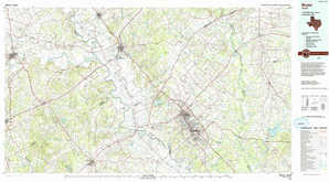 Bryan topographical map