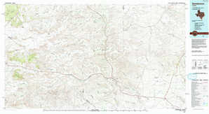 Sanderson topographical map