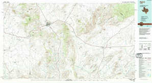Alpine topographical map