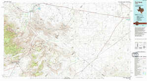 Fort Davis topographical map
