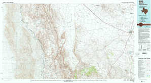 Marfa topographical map