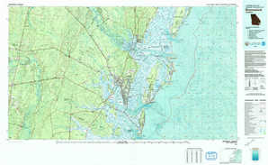 Brunswick topographical map