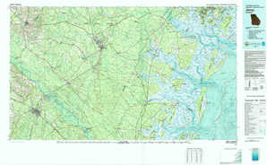 Jesup topographical map