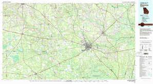 Waycross topographical map