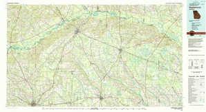 Hazlehurst topographical map