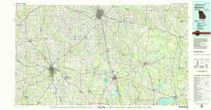 Moultrie topographical map