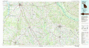 Cordele topographical map