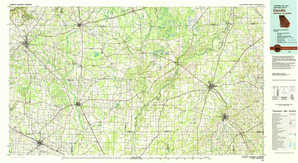Camilla topographical map