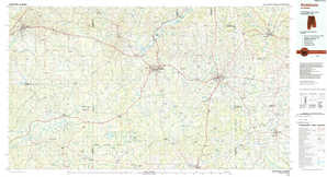 Andalusia 1:250,000 scale USGS topographic map 31086a1