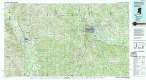 Hattiesburg topographical map