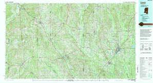 Laurel topographical map