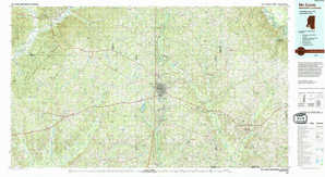 Mc Comb topographical map
