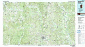 Brookhaven topographical map