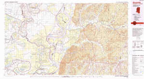 Woodville topographical map