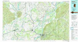 Natchez topographical map
